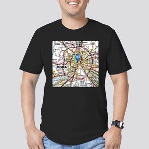 Map of Rome Italy T-Shirt