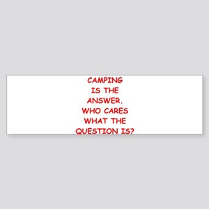camping Sticker (Bumper)