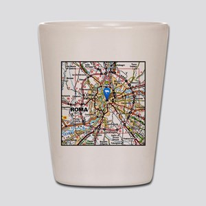 Map of Rome Italy Shot Glass