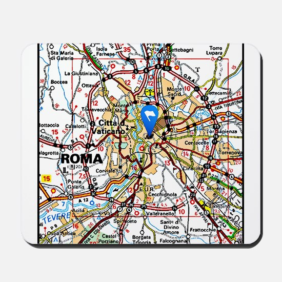 Map of Rome Italy Mousepad