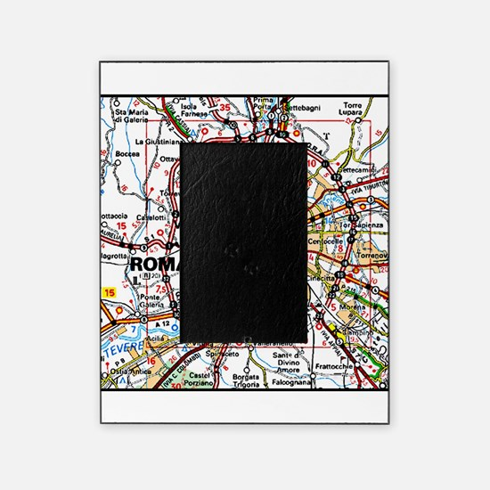 Map of Rome Italy Picture Frame