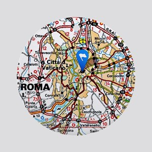 Map of Rome Italy Ornament (Round)