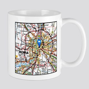 Map of Rome Italy Mugs