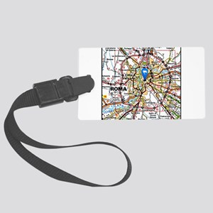 Map of Rome Italy Large Luggage Tag