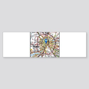 Map of Rome Italy Bumper Sticker
