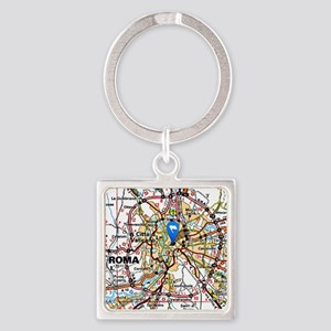 Map of Rome Italy Keychains