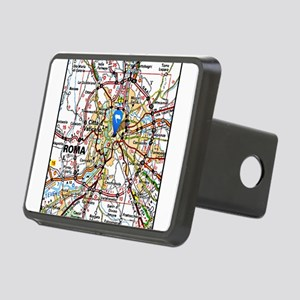 Map of Rome Italy Rectangular Hitch Cover