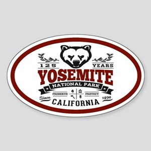 Yosemite Vintage Sticker (Oval)