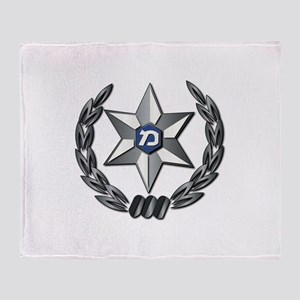 Israel - Police Hat Badge - No Text Throw Blanket