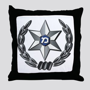 Israel - Police Hat Badge - No Text Throw Pillow