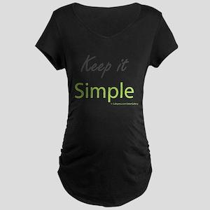 Keep it Simple Maternity Dark T-Shirt
