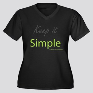 Keep it Simple Women's Plus Size V-Neck Dark T-Shi