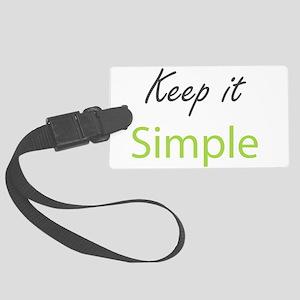 Keep it Simple Large Luggage Tag