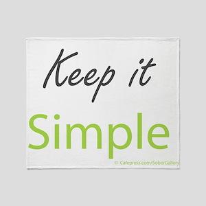 Keep it Simple Throw Blanket