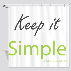 Keep it Simple Shower Curtain