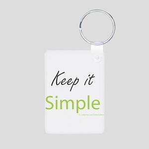 Keep it Simple Aluminum Photo Keychain
