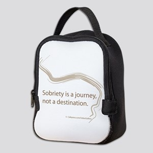 sobriety is a journey Neoprene Lunch Bag