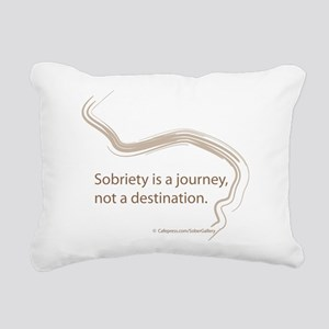 sobriety is a journey Rectangular Canvas Pillow