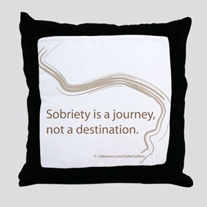 sobriety is a journey Throw Pillow