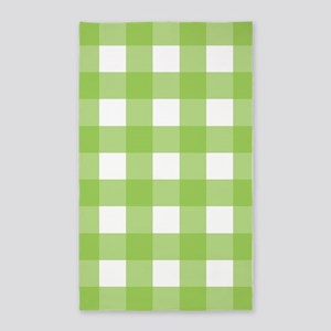 Gingham Check Spring Green 3'x5' Area Rug