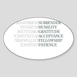 Surrender Sticker (Oval 10 pk)