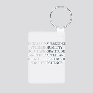 Surrender Aluminum Photo Keychain