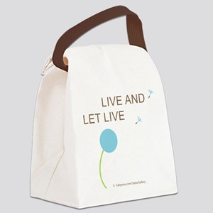Live and Let Live Canvas Lunch Bag