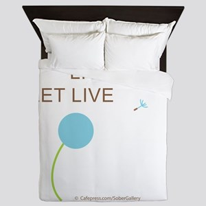 Live and Let Live Queen Duvet