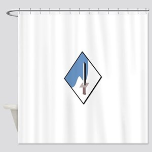 188th-Armored-Brigade-NoText Shower Curtain