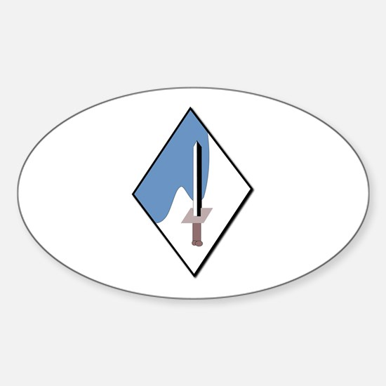 188th-Armored-Brigade-NoText Sticker (Oval)