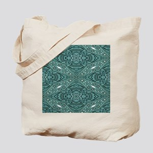 girly chic teal turquoise tooled leather Tote Bag