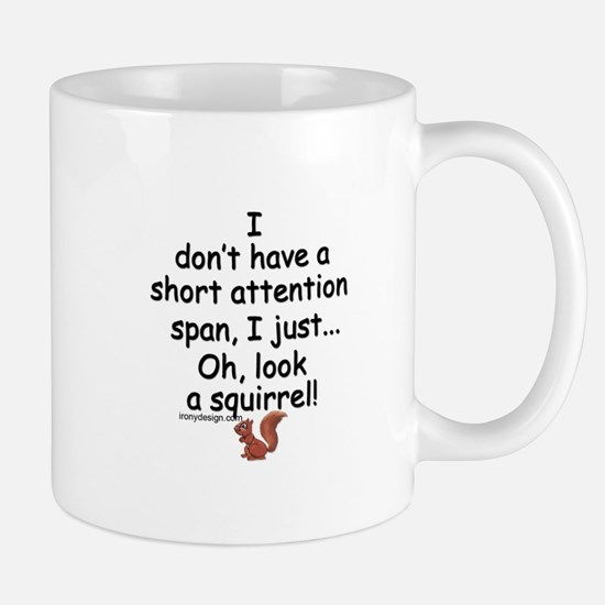 Attention Span Squirrel Mugs