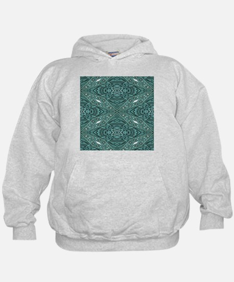 girly chic teal turquoise tooled leat Hoodie