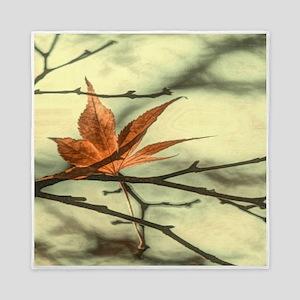 autumn maple leaves fall landscape Queen Duvet