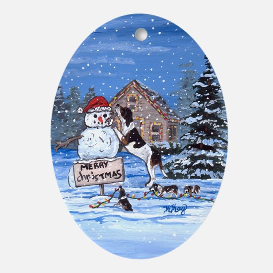 Treeing Walker Foxhound DFC Oval Ornament