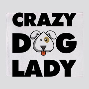 Crazy Dog Lady Throw Blanket