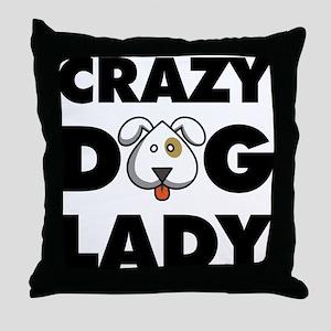 Crazy Dog Lady Throw Pillow