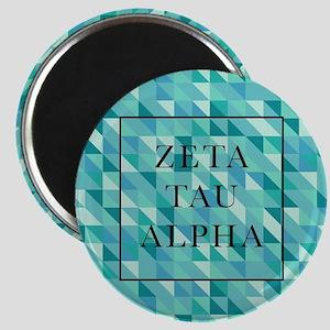 Zeta Tau Alpha Geometric FB Magnet