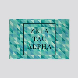 Zeta Tau Alpha Geometric FB Rectangle Magnet