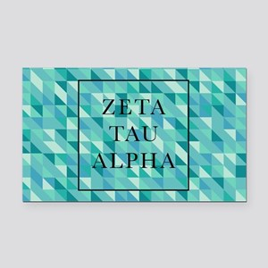 Zeta Tau Alpha Geometric FB Rectangle Car Magnet
