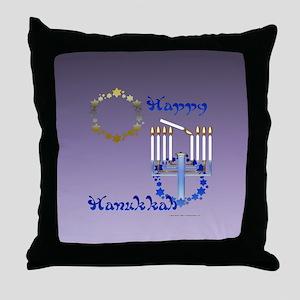 Hanukkah Stars Throw Pillow