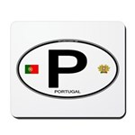 Portugal Intl Oval Mousepad