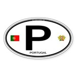 Portugal Intl Oval Oval Sticker