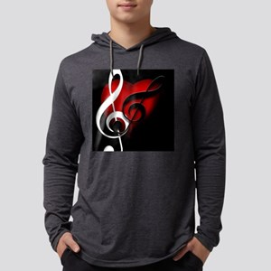 Heart and Clefs Appare Long Sleeve T-Shirt