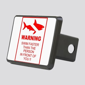 shark warning back copy Hitch Cover