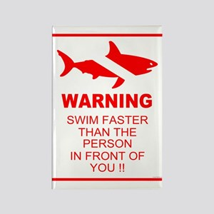 shark warning back copy Magnets
