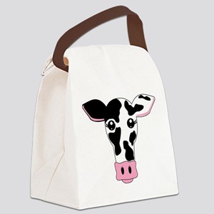 Sweet Cow Face Design Canvas Lunch Bag