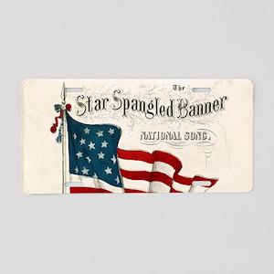 Star-Spangled Banner Aluminum License Plate