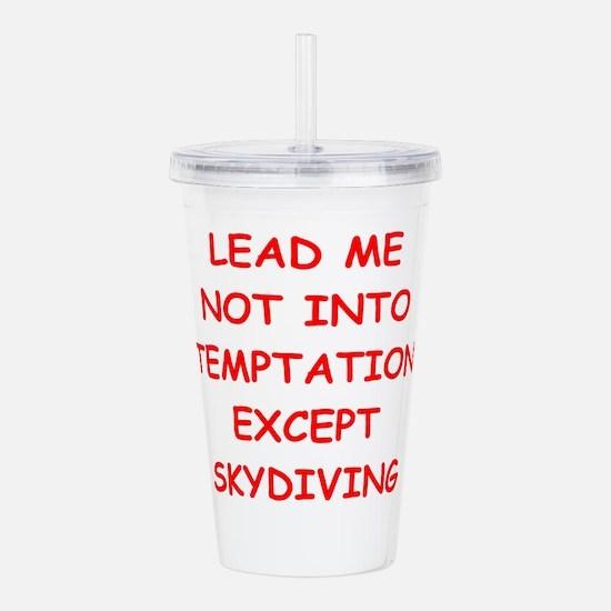 skydiving Acrylic Double-wall Tumbler