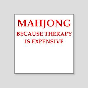 "mahjong Square Sticker 3"" x 3"""